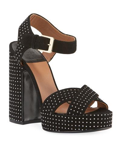 Rosange Suede Studded Platform Sandals