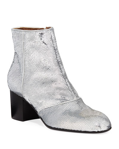 Selda Sequined Ankle Booties