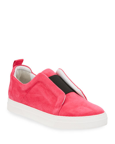 Slider Suede Slip-On Low-Top Sneaker