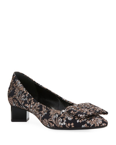 Obi Metallic Jacquard 30mm Pumps