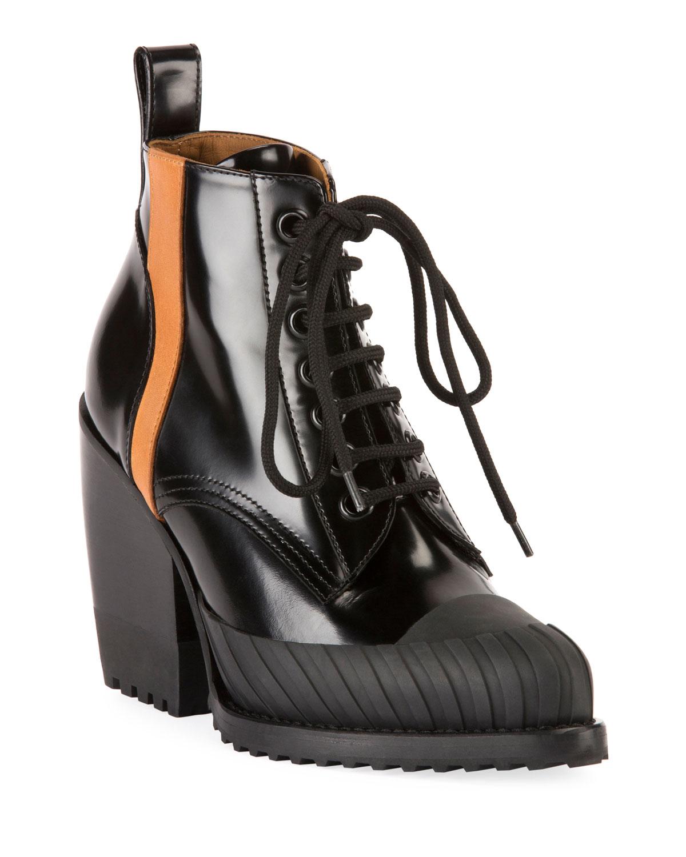 Rylee Block-Heel Lace-Up Combat Boots