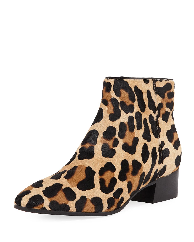Aquatalia Boots FUOCO LEOPARD-PRINT BOOTIES