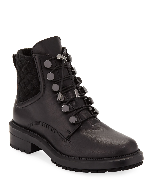 Linda Leather Combat Boot