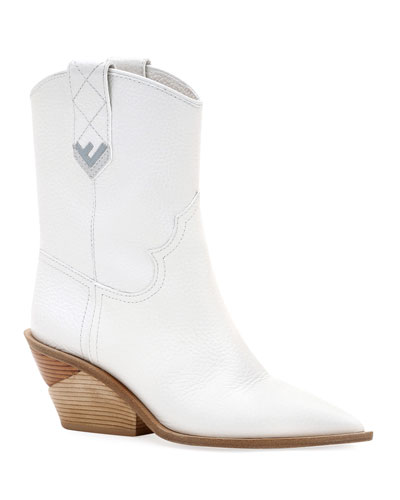 Leather Western 60mm Booties