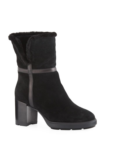 Isolda Suede Tall Booties