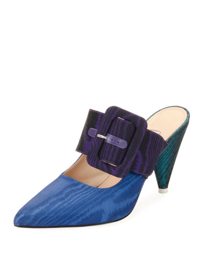 Chloe Colorblock Slide Mules