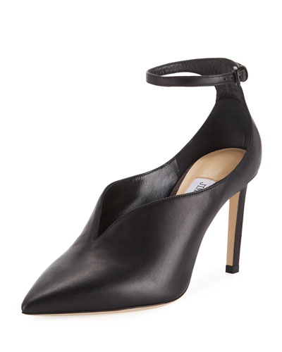Sonia Leather Ankle-Strap Pumps