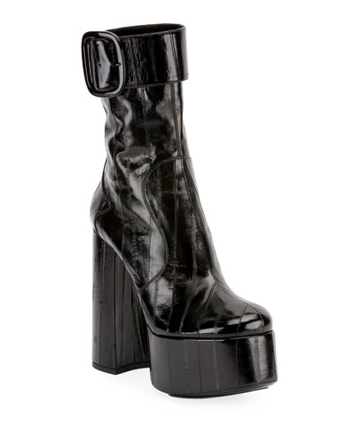 b5d634d06b9 140mm Eel Platform Buckle Booties Quick Look. Saint Laurent