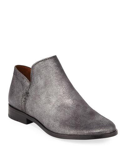Elyssa Short Metallic Leather Booties