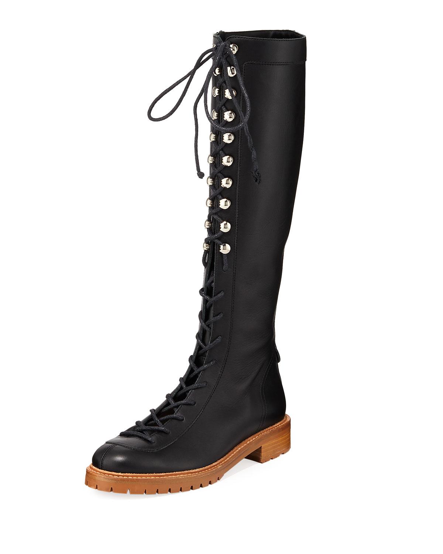 Juan Knee-High Combat Boots