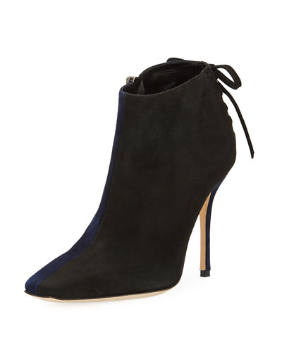 Duskin Two-Tone Suede Booties