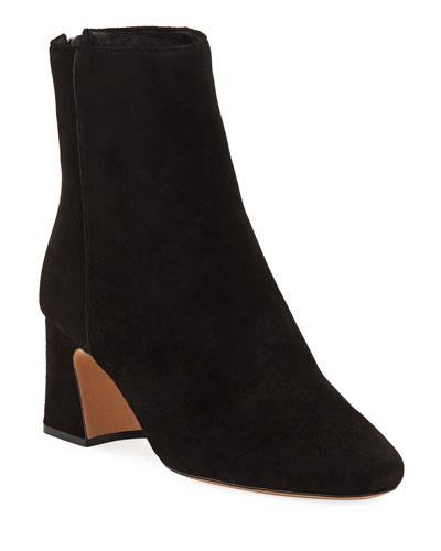 41b0c3f77a6 Corella Suede Block-Heel Booties