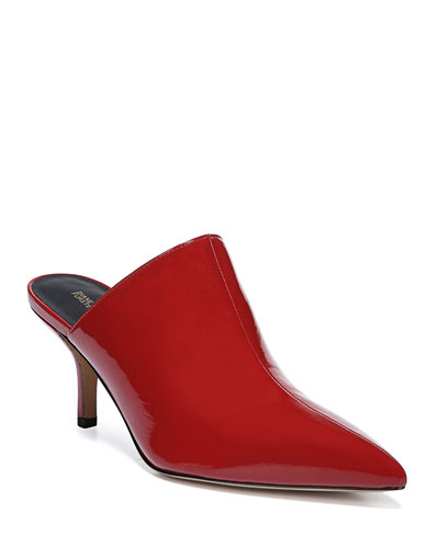Mikaila Patent Pointed Mules
