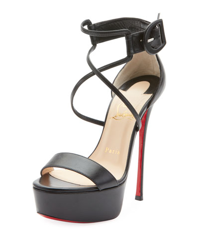 Choca 130mm Leather Platform Red Sole Sandal