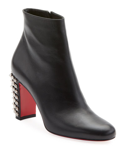 Suzi Folk Leather Red Sole Booties