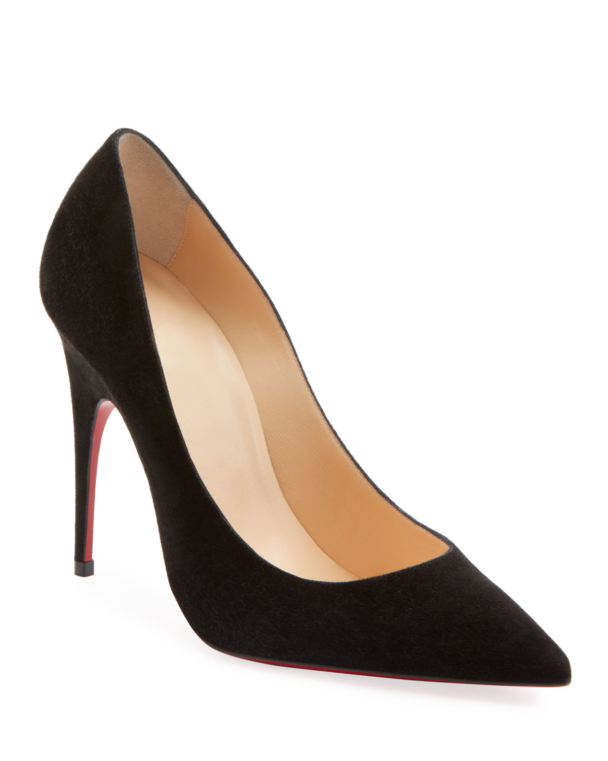 CHRISTIAN LOUBOUTIN Alminette 100 Suede Pumps in Black