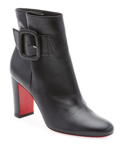 fbcad3ab3bdf Tres Olivia Napa Leather Buckled Red Sole Booties Quick Look. Christian  Louboutin