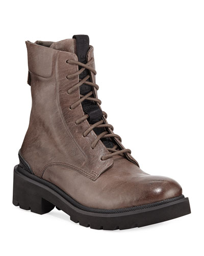 Allison Leather Combat Boots