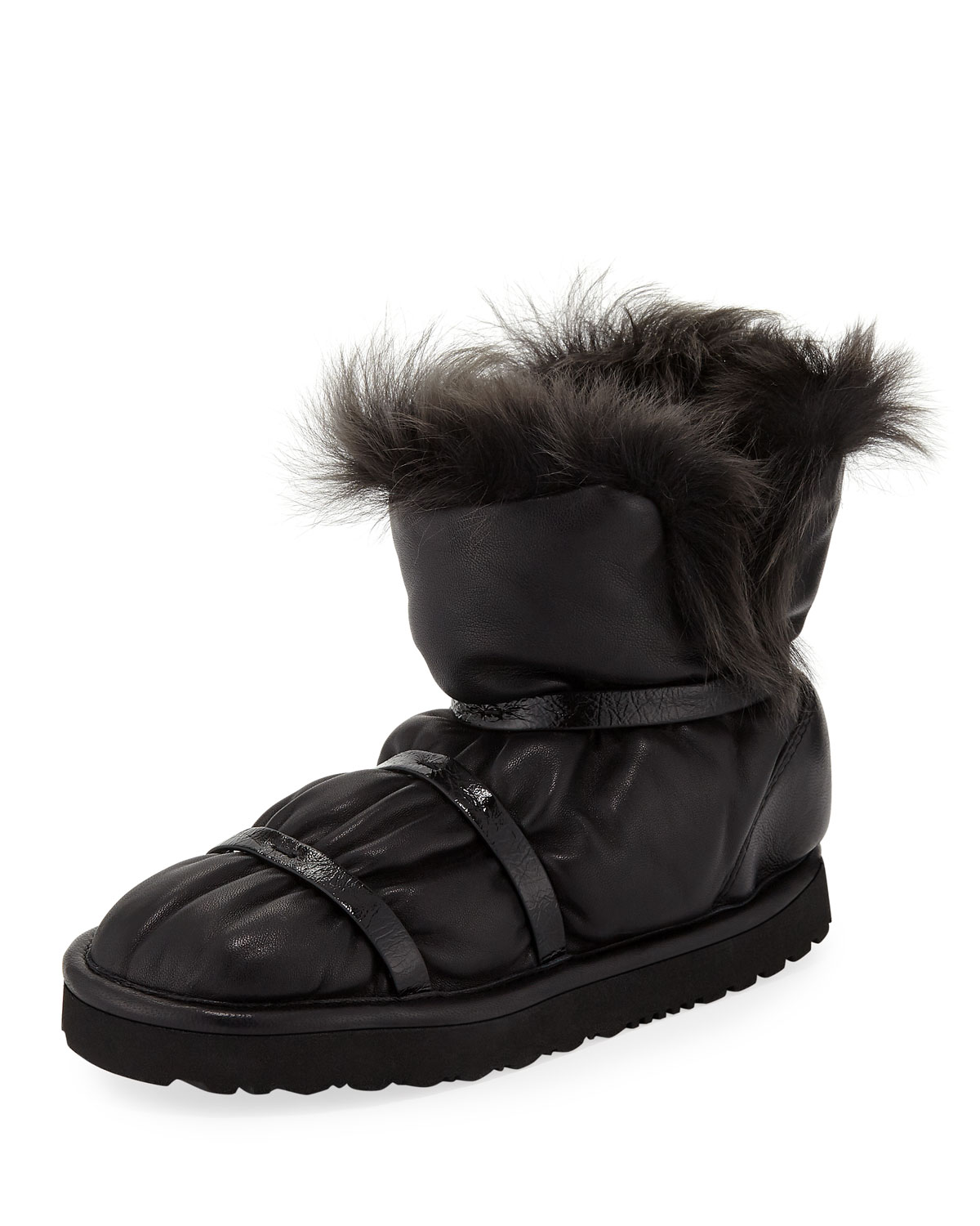 Janica Leather Flat Winter Boots