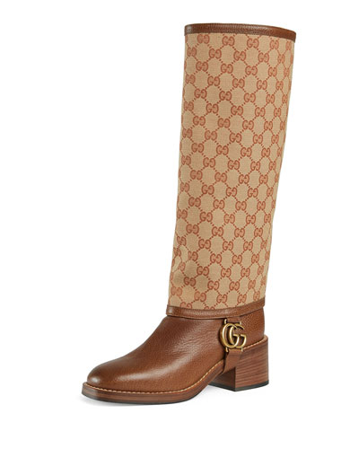eb1d10b10 Lola GG Canvas and Leather Riding Boots