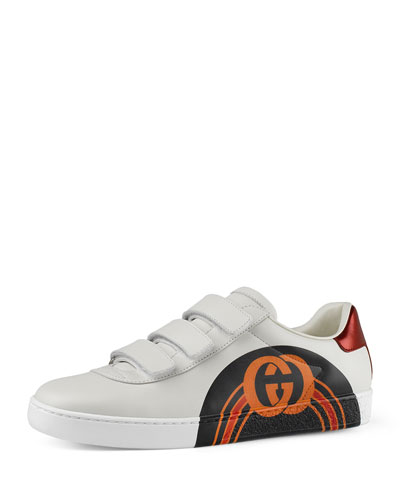 87cf7b92c9f1 Printed Leather Grip Sneakers Quick Look. Gucci