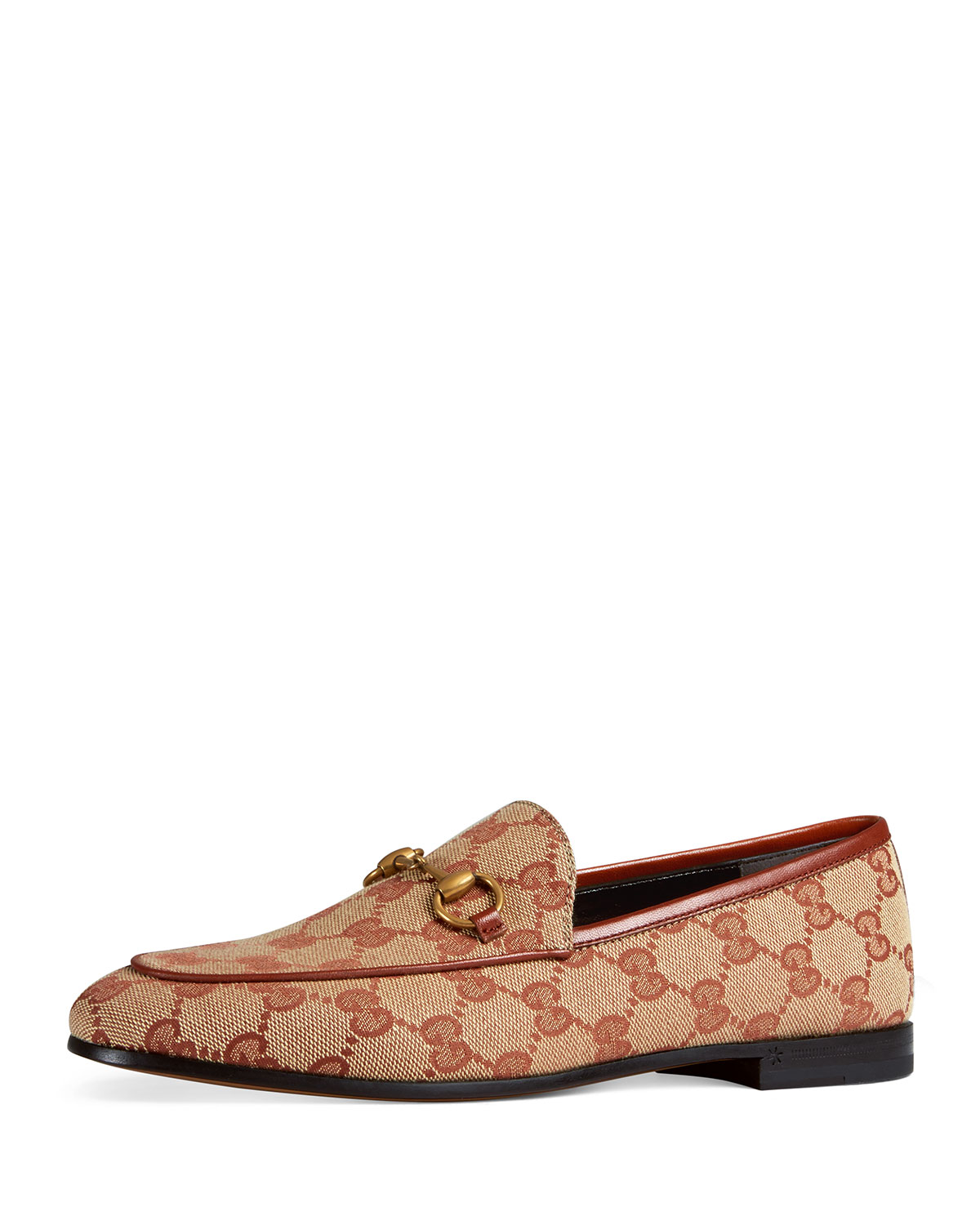 Jordaan Gg Canvas Loafer, Brick Red/Beige Original Gg Canvas