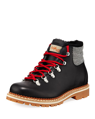 Margherita Bicolor Lace-Up Boots