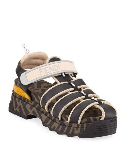 T-Rex Chunky-Heel FF Hiker Sandals