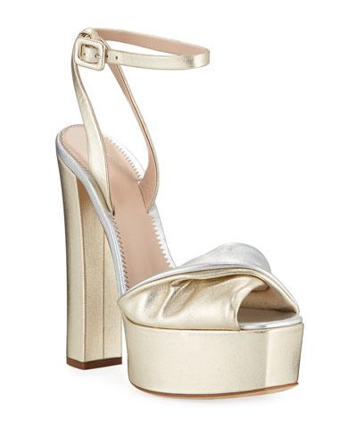 b34f7f50d848 Metallic Leather Platform Sandals Quick Look. Giuseppe Zanotti