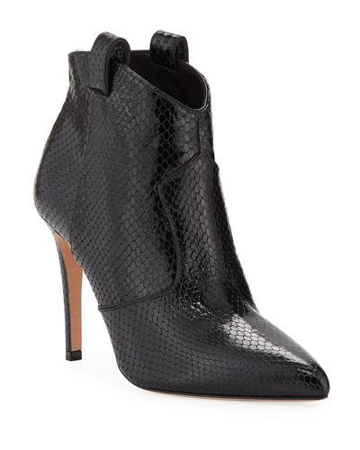 83b8c46d625 Loretta Embossed Leather Western Booties