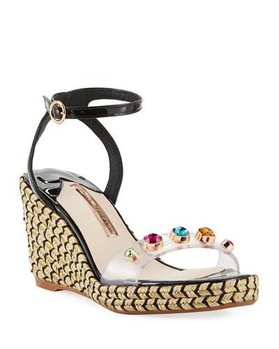 Dina Gem Mid Espadrille Sandals