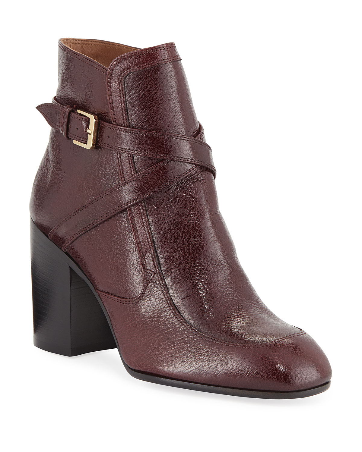 Laurence Dacade Boots TONIA CRISSCROSS LEATHER BOOTIES