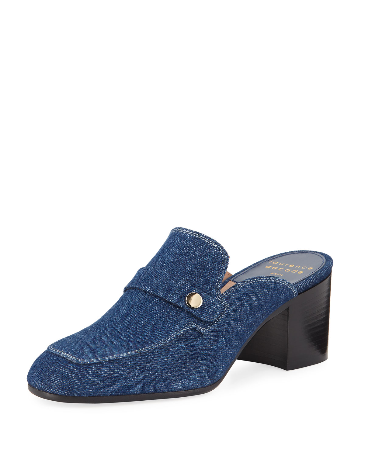 Laurence Dacade Loafers THELMA DENIM PENNY LOAFER MULES