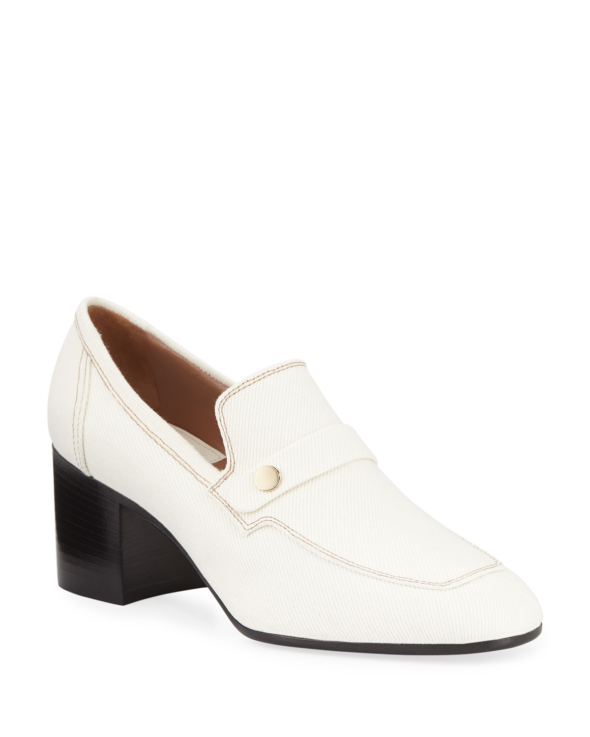 Laurence Dacade Loafers TRACY HEELED CANVAS PENNY LOAFERS