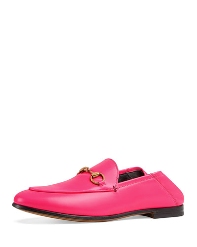 Brixton Neon Leather Horsebit Loafers