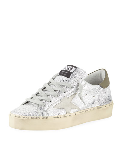 Hi Star Metallic Leather Platform Sneakers
