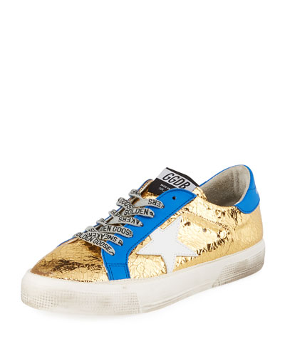 May Metallic Leather Star Sneakers