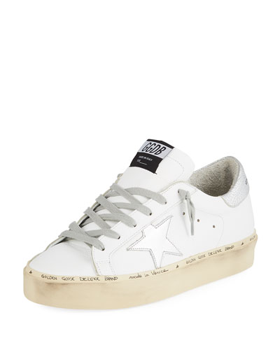 Hi Star Leather Platform Sneakers