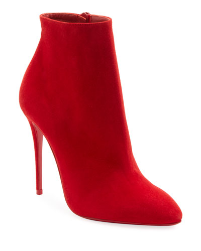 Eloise Suede Red Sole Booties