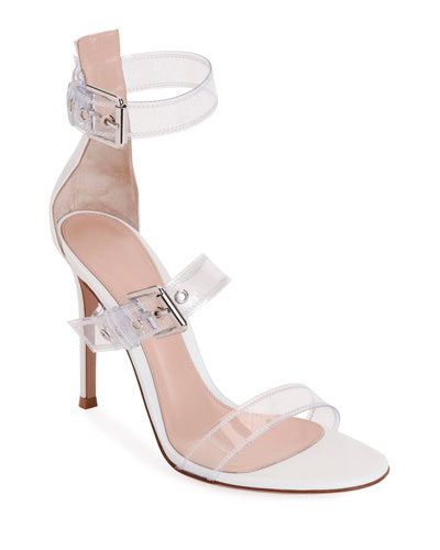 Plexi Three-Buckle Sandals
