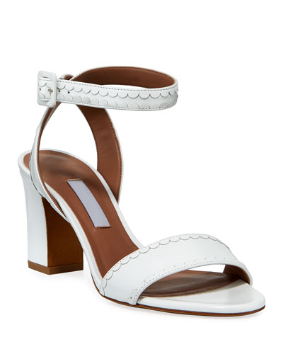Leticia Frill Leather Sandals