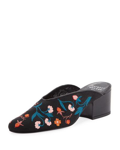Rissy 30mm Embroidered Mules