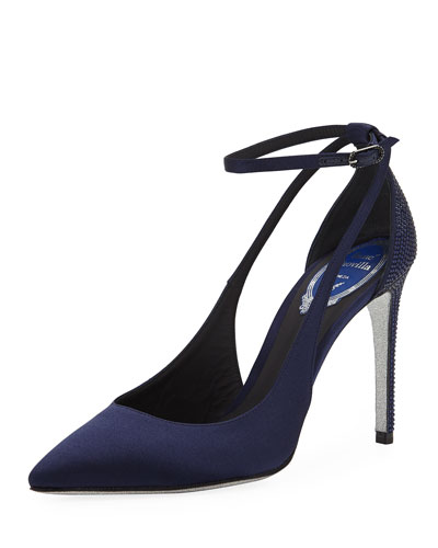 Evania Satin Pointed Pumps
