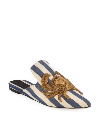 Granceola Gleam Embroidered Mules