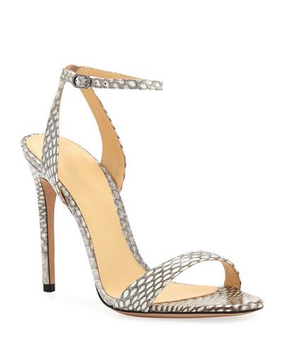 Santine Snakeskin Sandals
