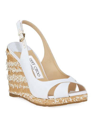 Amely Canvas Platform Wedge Sandals