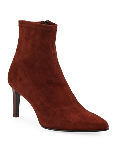 Beha Stretch-Suede Ankle Booties