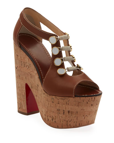 93da0f0efaef Ordonanette 160 Leather Platform Red Sole Sandals Quick Look. Christian  Louboutin