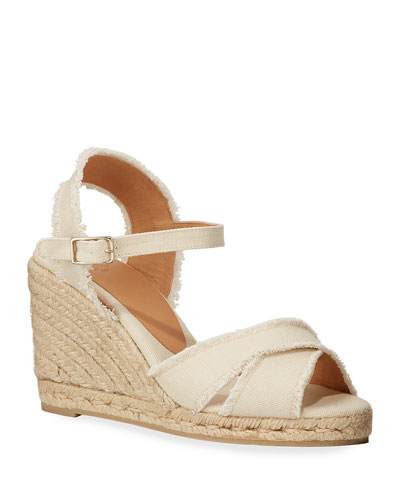 Bromelia Wedge Canvas Sandals