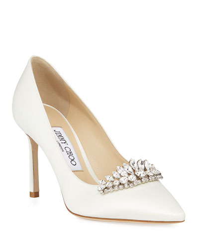 8f9df787f5e Romy Pointed Pumps With Tiara Quick Look. Jimmy Choo